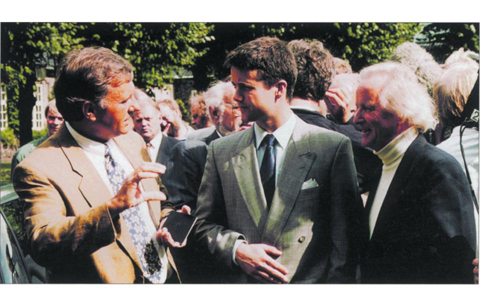 Max René, his Royal Highness, his Crown Prince Frederik of Denmark, and Jacob Jensen.