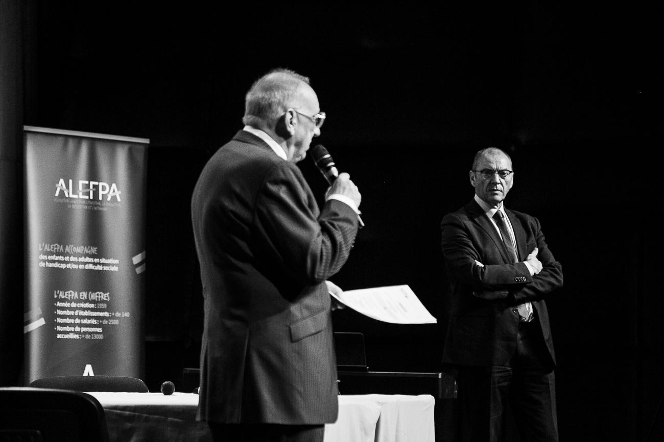 michel caron, président et olivier baron, directeur général de l'alefpa - photoreportage assemblée générale de l'ALEPA.jpg