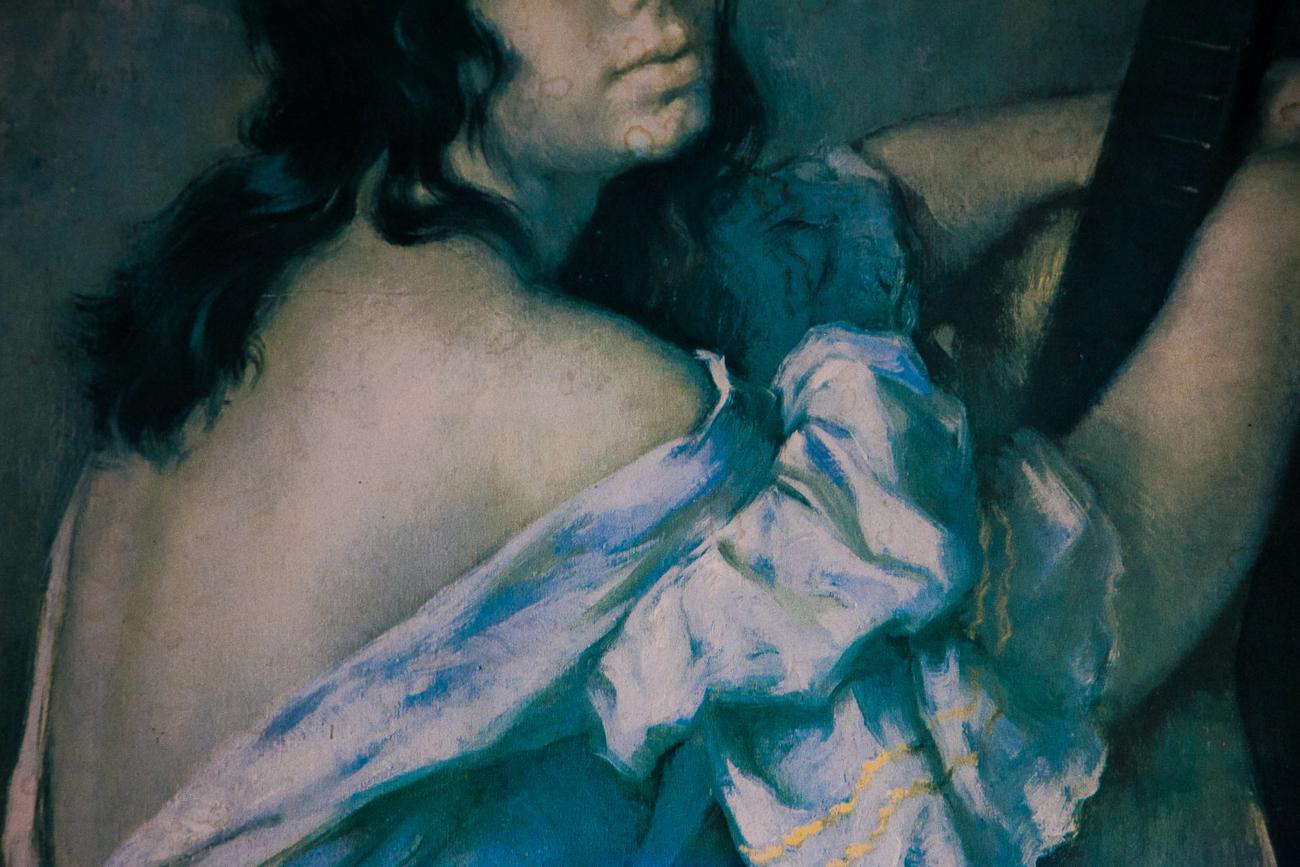 détail d'une peinture vieillie sur le mur - photo couleur fineart projet photo choses à soi de rêvelise rohart - série ciel sonore.jpg