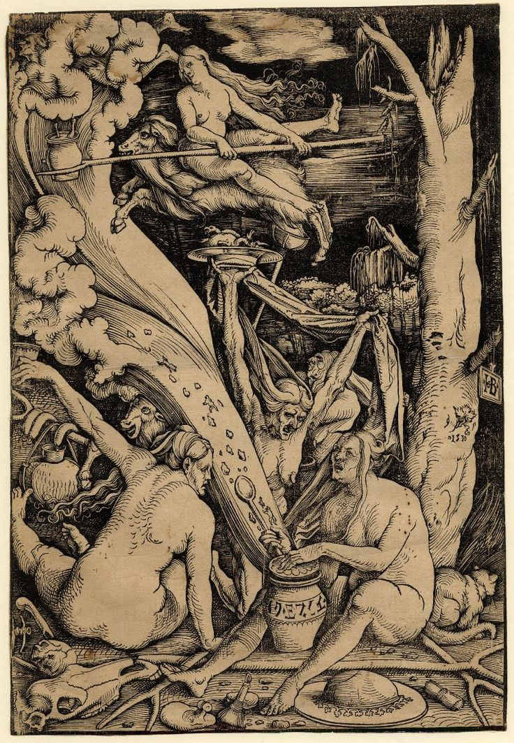 'The Witches' - woodcut by Hans Baldung Grien, 1510