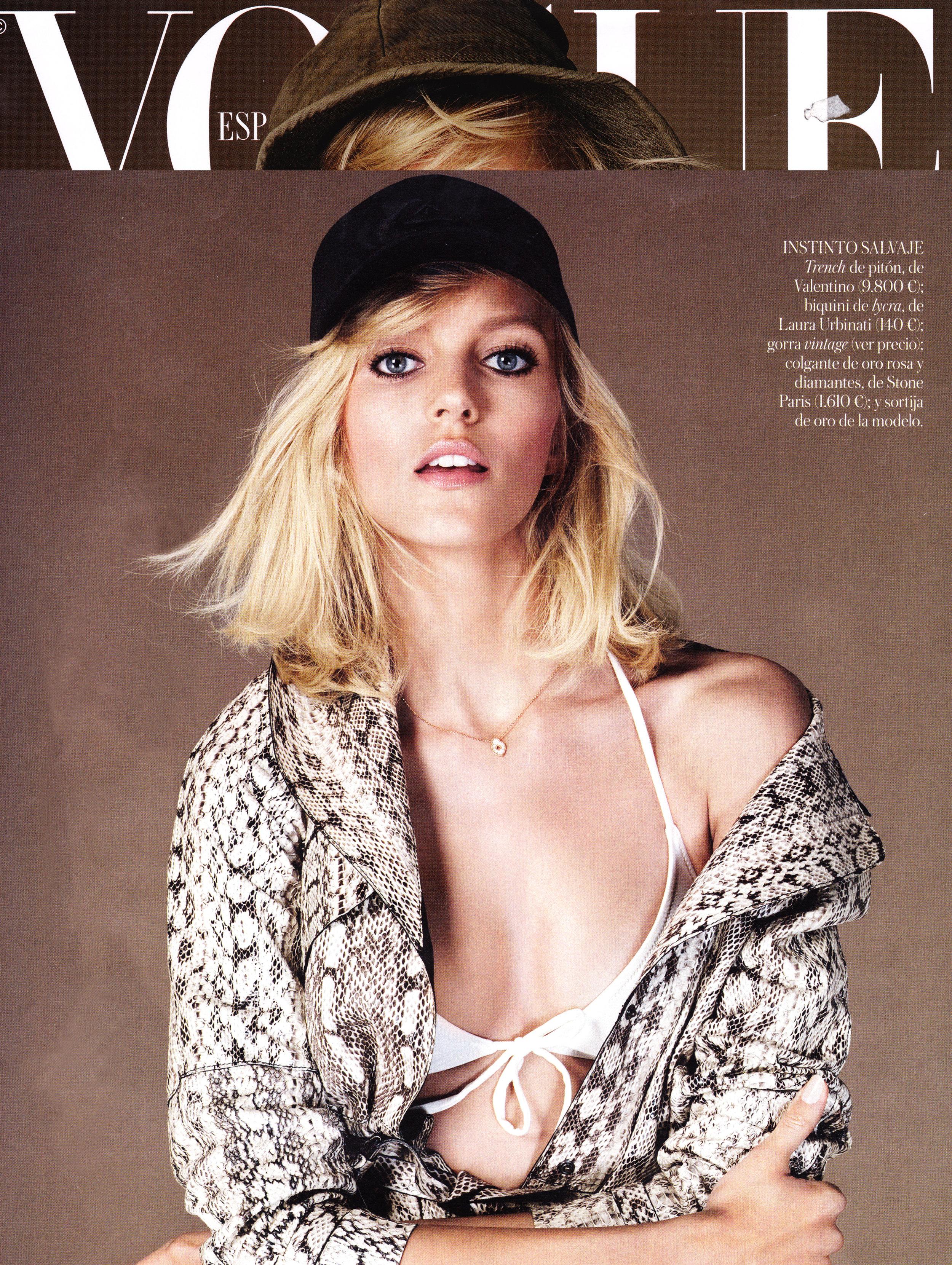 Anja Rubik - Vogue Spain 2013