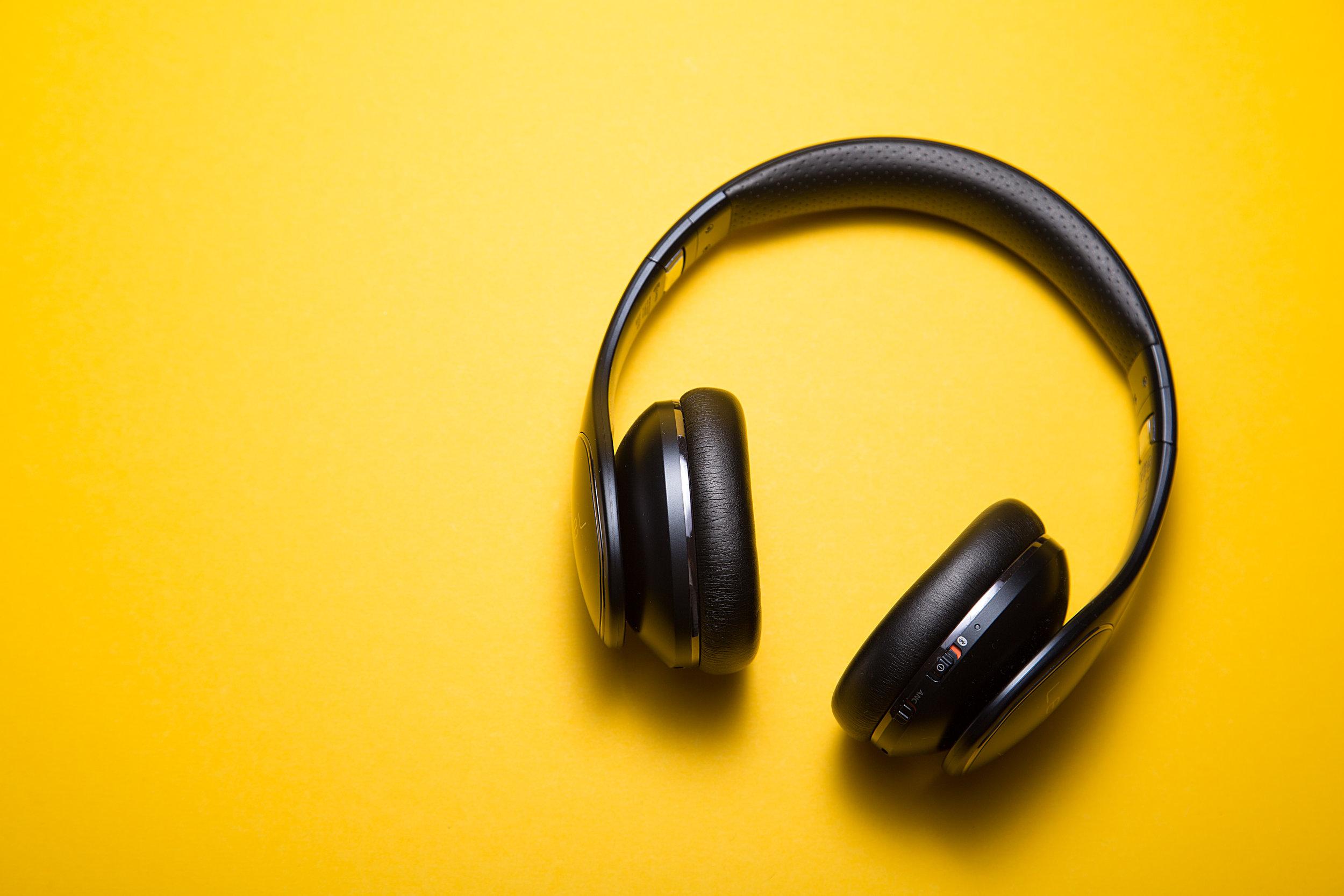 Listen to relaxing music. -