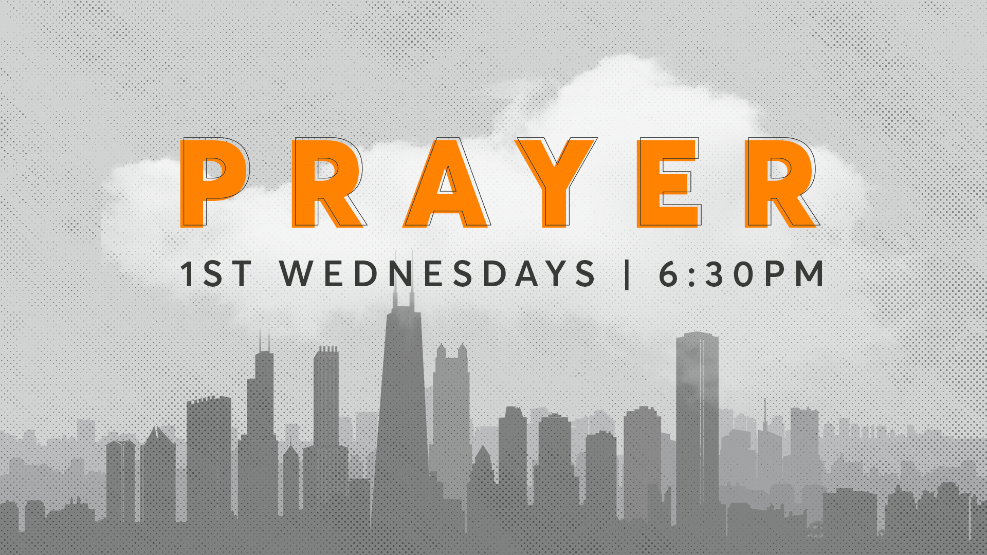 JOIN US THIS WEDNESDAY OCT 2 - 6:30PM AT 3850 W MONTROSE FOR PRAYER MEETING.