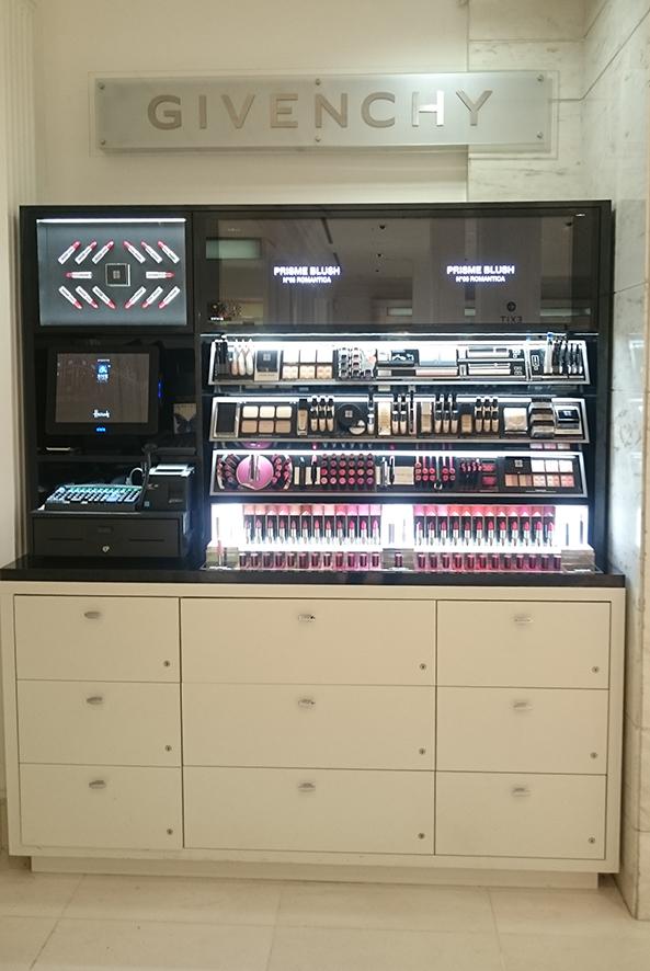 branded counter . Harrods . London