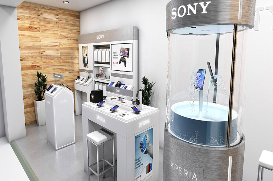 shop in shop concept reveal . Mobile World Congress . Barcelona