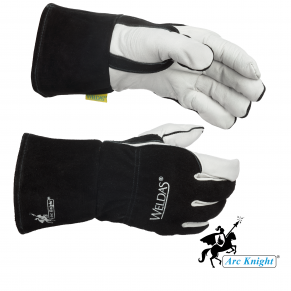 The Arc Knight® MIG gloves feature a comfortable elastic wrist, welted seams to prevent burnout, and are fully cotton lined.
