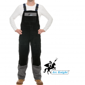 The Arc Knight® Overall boasts the same heavy duty FR cotton and leather reinforcements as our jacket.