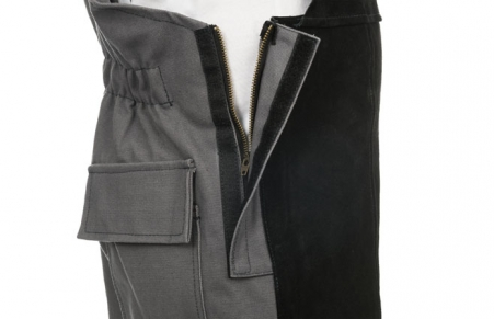Our Overall also features zipper openings for easy wear and removal.