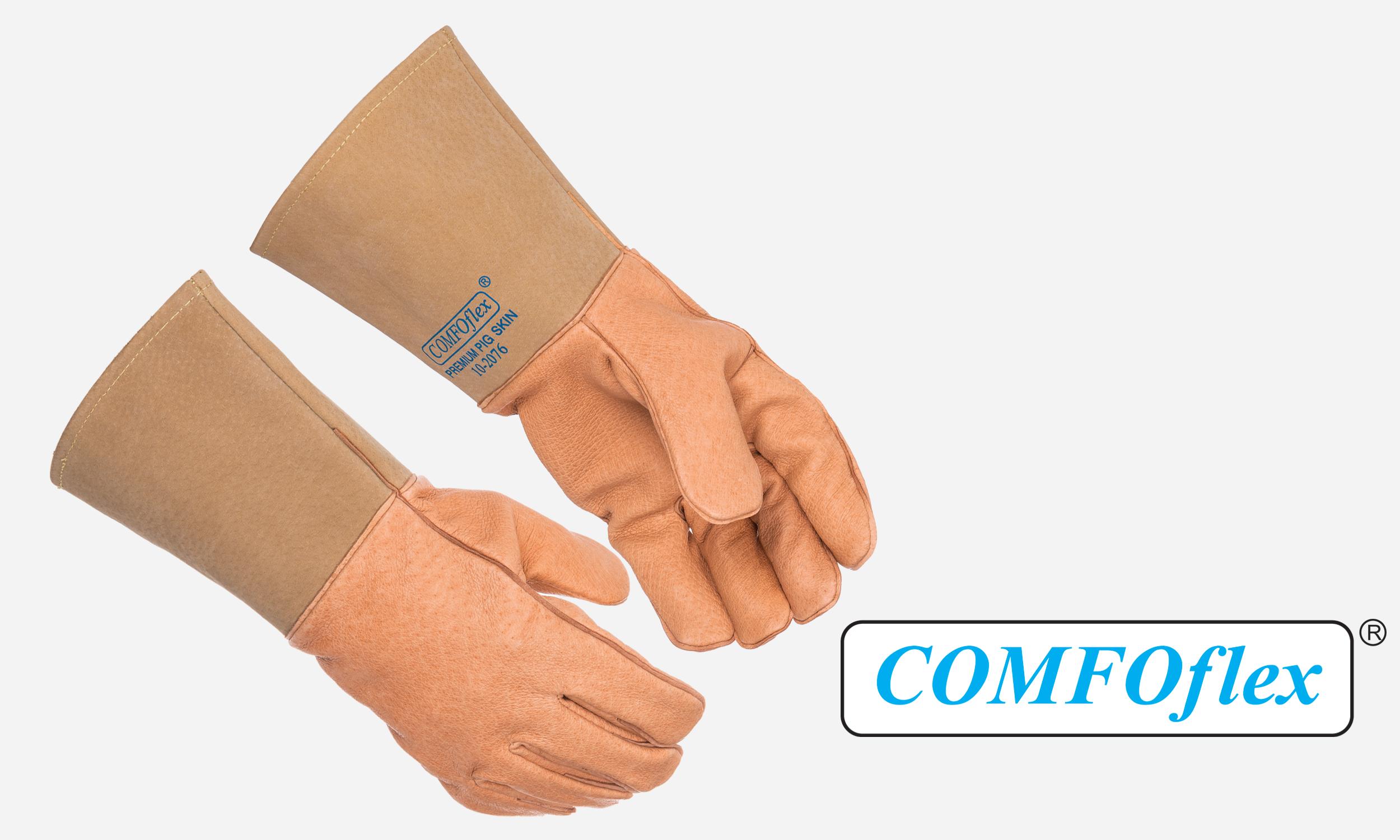 Pigskin welding glove