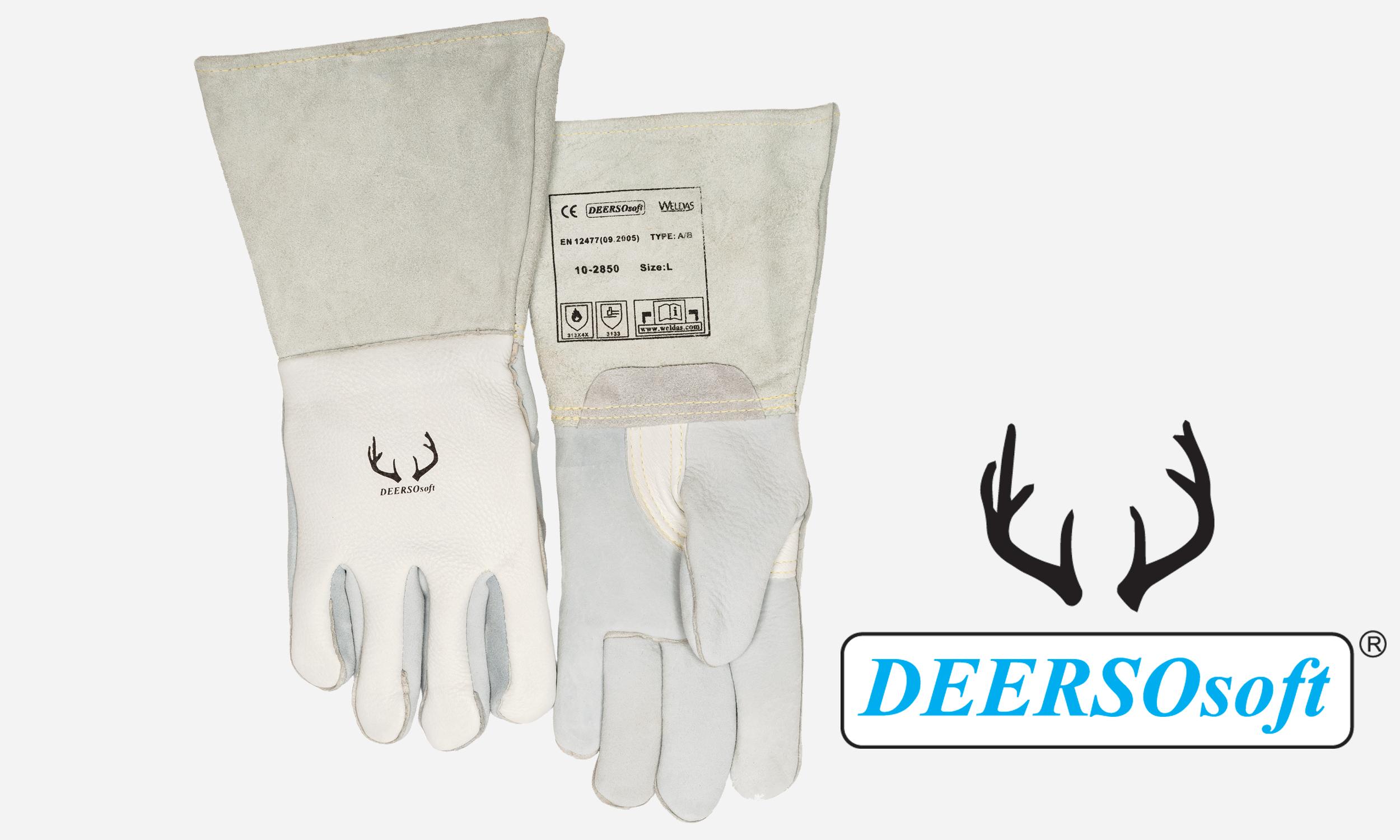 White Deerskin Welding Glove
