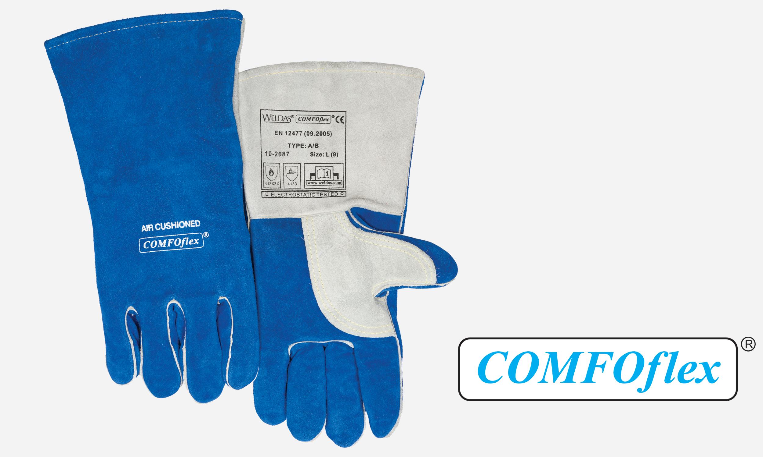 Premium Stick Welding Glove Blue