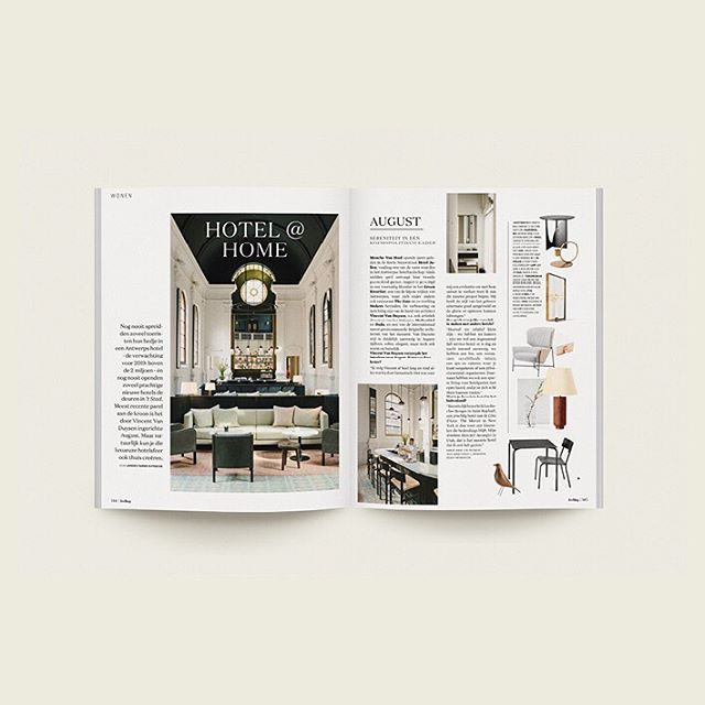Hotel at home. A piece about three hotels in Antwerp with matching shopping pages for last month's @feelingmagazine. #whatlorriedid #lorrieworks   #feelingmagazine #copywriting #shoppingpage #creativestudio #gent #9050 #9000