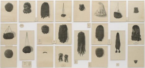 """Wigs,"" Lorna Simpson, 1994"
