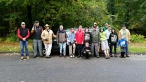 Boy Scouts from Troop 15 and Land Trust volunteers prepare to work at the Dan Beard property. - Photo by Wendy Halpern