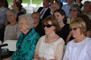 Mary Erlanger, Emily d'Aulaire and former First Selectman Natalie Ketcham. -Photo by Jane Merritt.