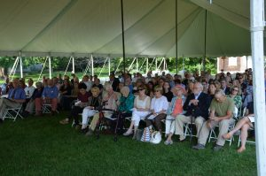 Family, friends and neighbors gather to remember the life of Mary Anne Guitar. -Photo by Jane Merritt