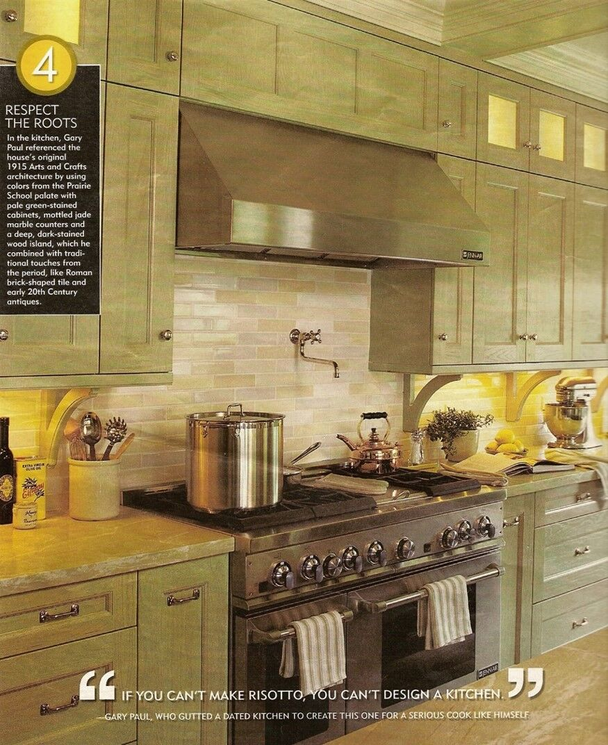 """IF YOU CAN'T MAKE RISOTTO, YOU CAN'T DESIGN A KITCHEN!"" - — Gary Jay Paul"