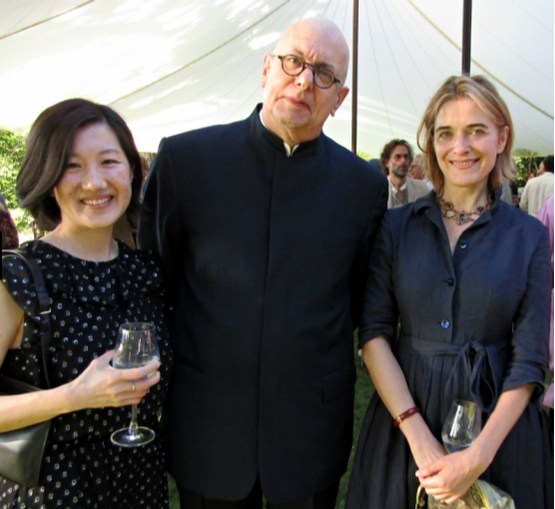Bard's 2019 SummerScape Gala Honored Philanthropists Martin and Toni Sosnoff and Performer Alan Cumming - Kaatsbaan's Executive Director Sonja Kostich (left)with Bard College President Leon Botstein (center).