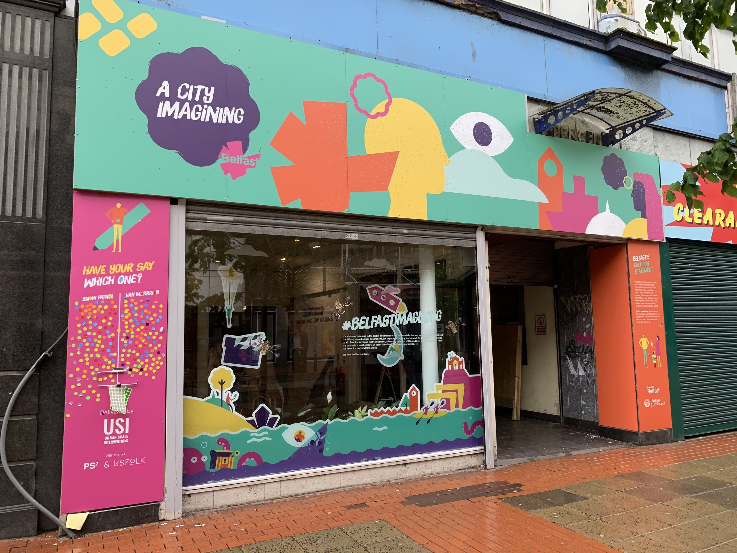The City Imagining Shop on Royal Avenue in Belfast