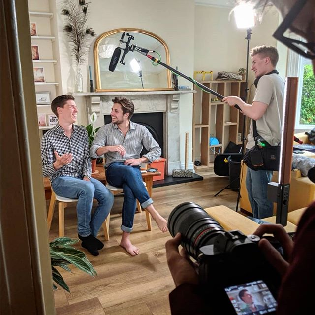 Yesterday's filming for the #cityimagining video for @belfastcitycouncil discussing the shop and the cultural strategy for the city #filming#interview#publicengagement#culture#belfast#people