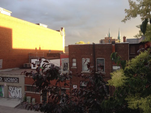 View from Chantal's Montreal studio