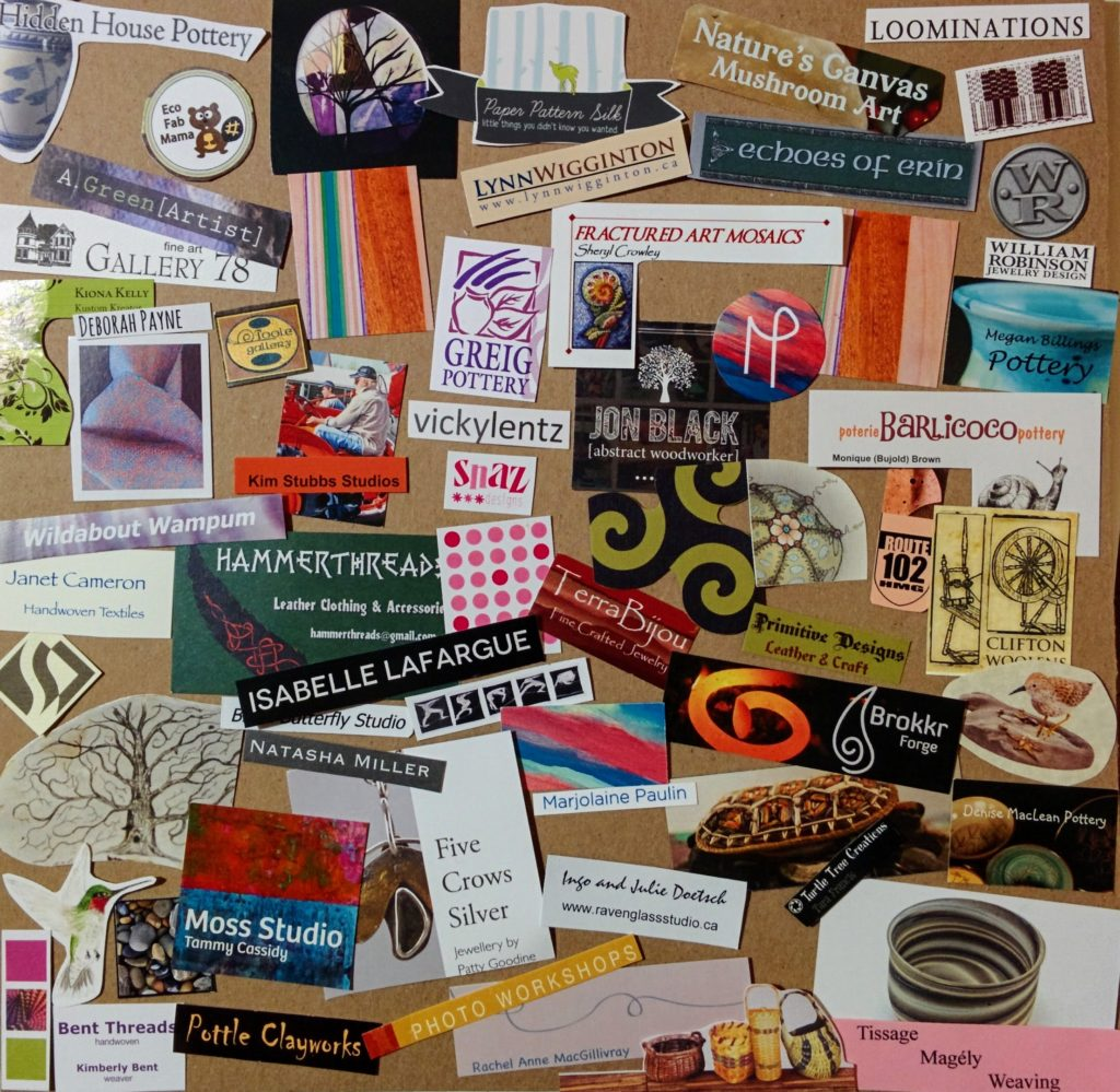 Snippets of Artists' Business Cards