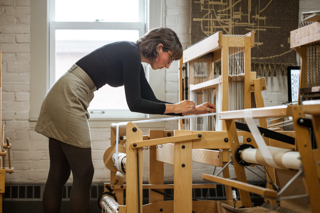 Photo by Bang On Photography - Emily Blair Weaving on CAD
