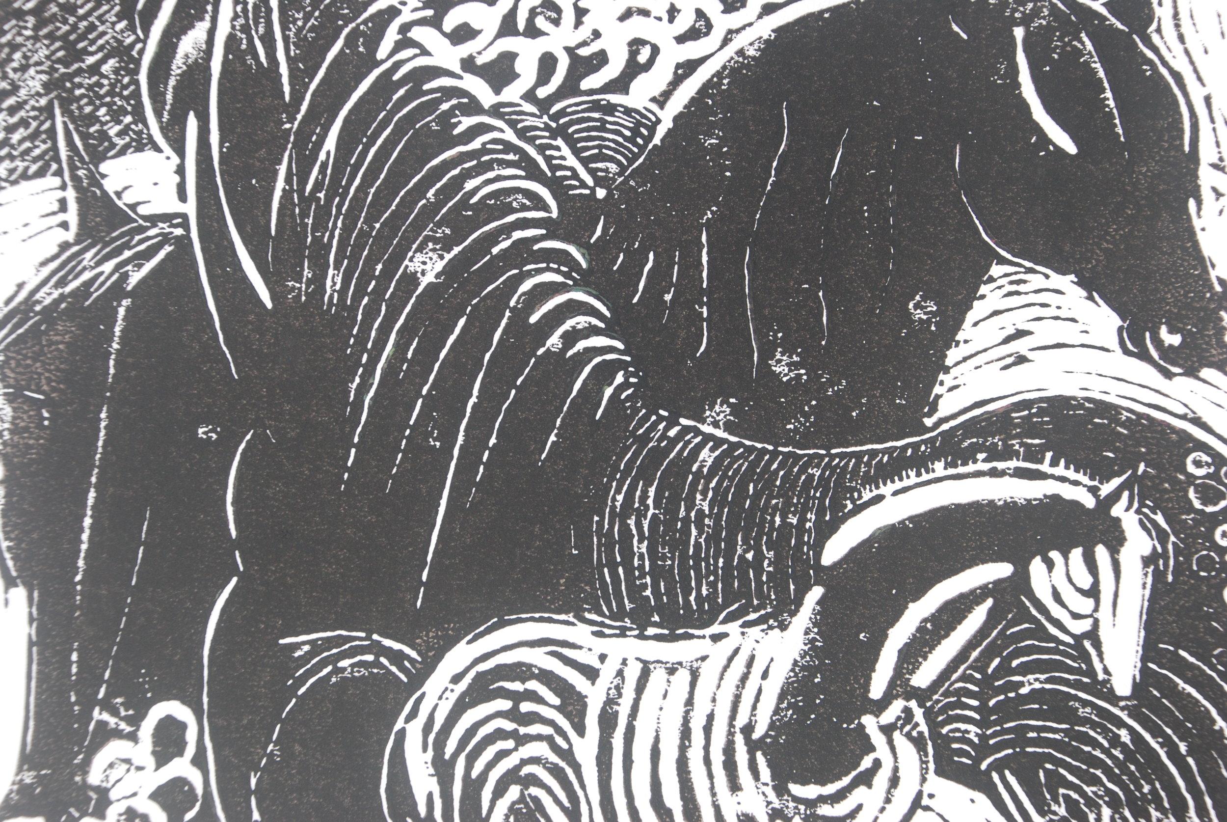 Lino print, James Fox.JPG
