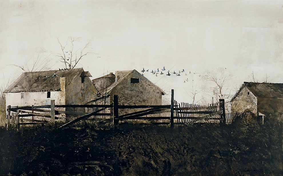 The Mill, by Andrew Wyeth, 1959