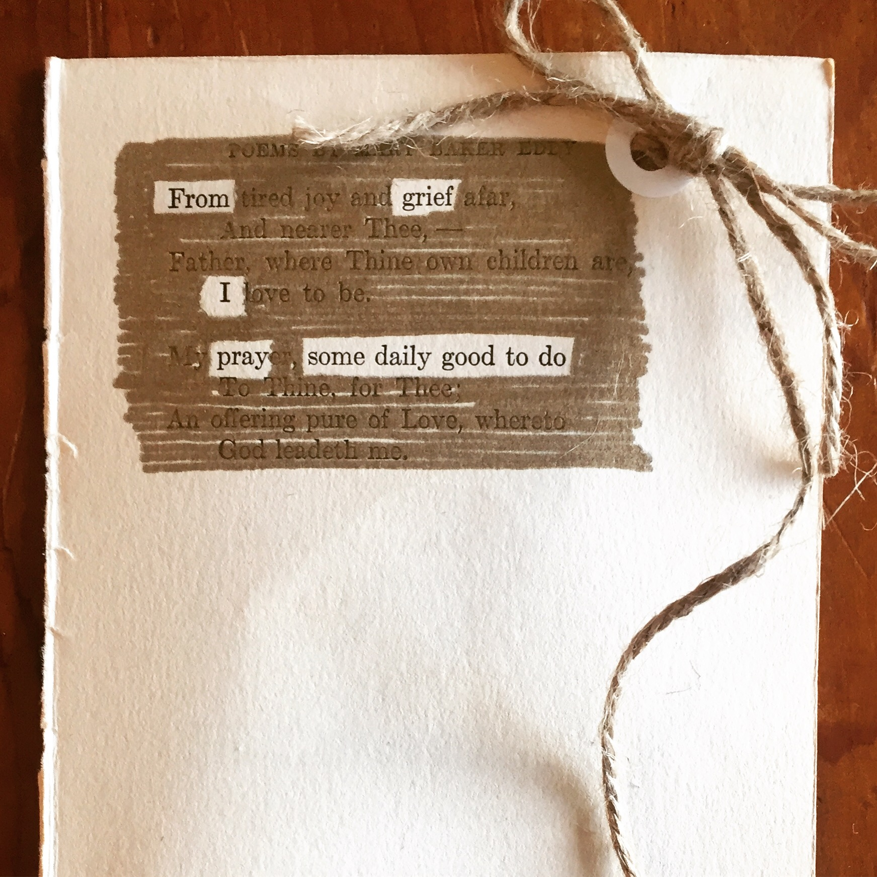 """ From Grief,"" an erasure poem by Drew Myron"