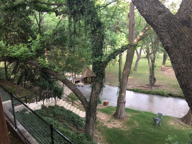 View of the Leakey Springs from the private deck of Paradise Rental Home.  Please note that the Paradise Rental Home is NOT located on the Frio River and river access to    Rio Bella    is NOT included .