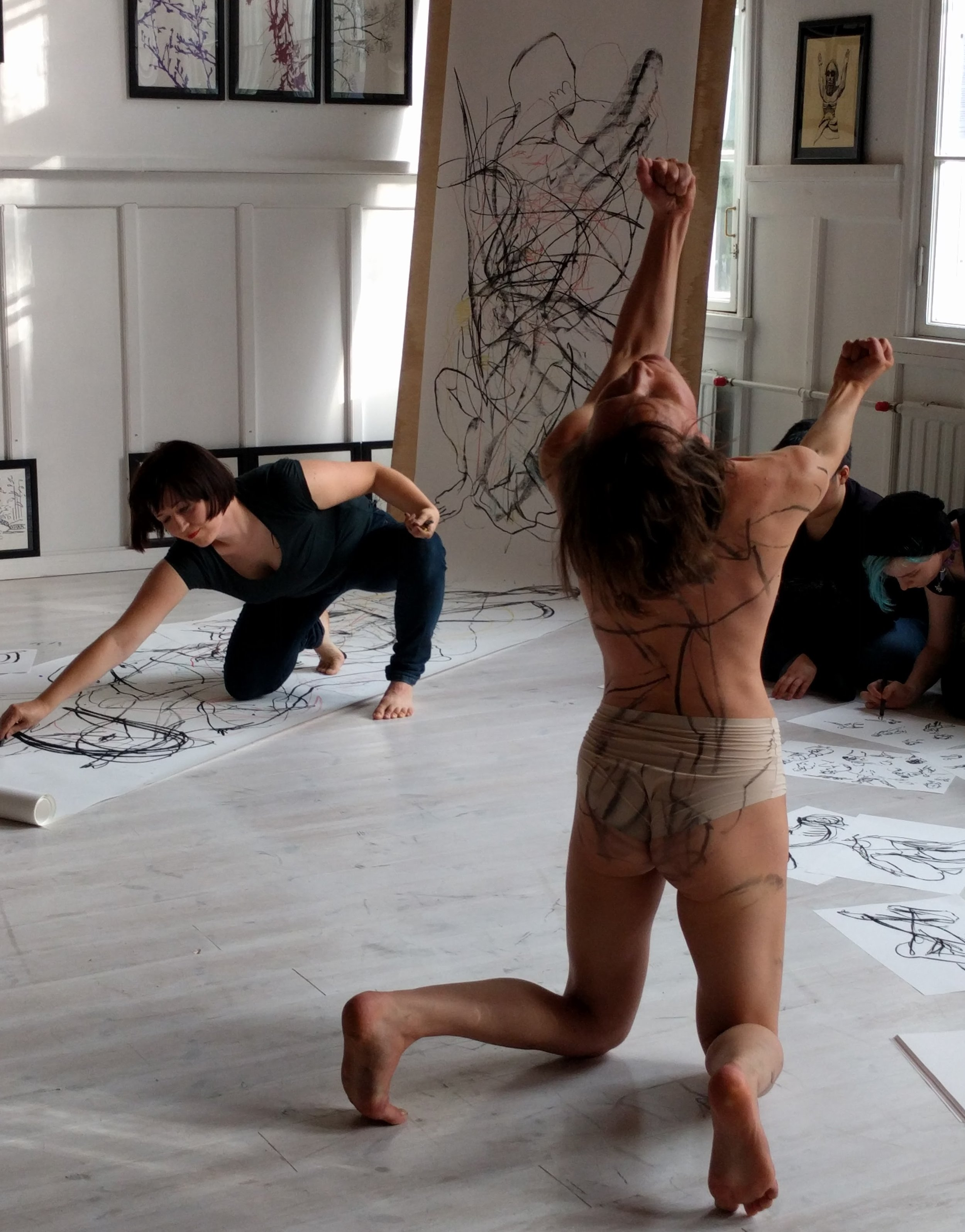 Life drawing x contemporary dance