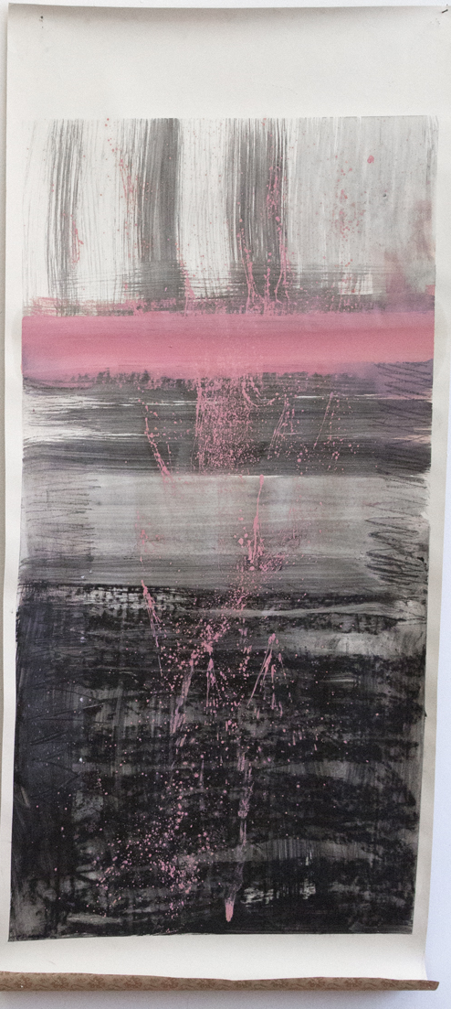Elina Aho from series Embodied City, mixed media on wall paper, 160 cm x 72 cm.png