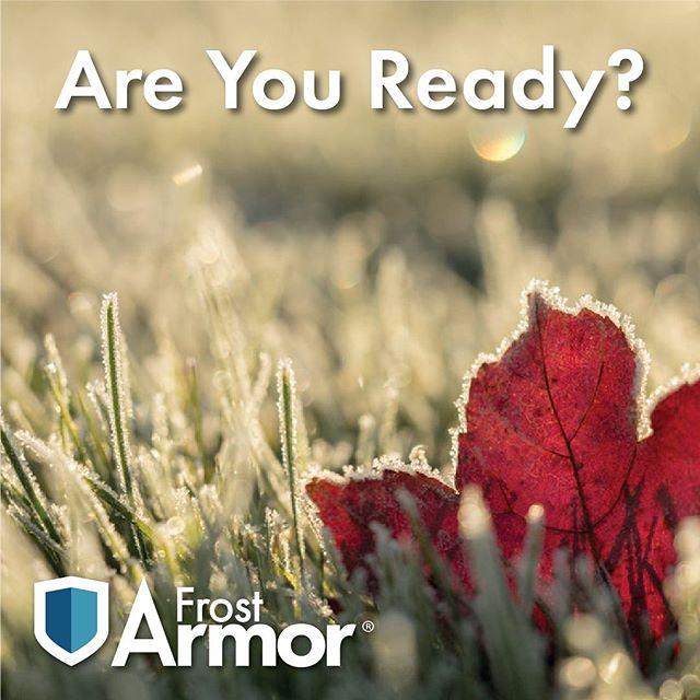 Garden Armor can help get you ready...#frostarmor  #garden #gardening #landscaping #frost #gardenarmor