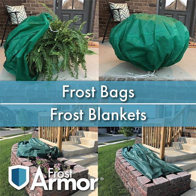 Our frost bags and blankets help keep your plants protected from early and late frost.  Link in our bio!  #frost #frostprotection #garden #gardening #landscaping #gardenarmor #frostarmor