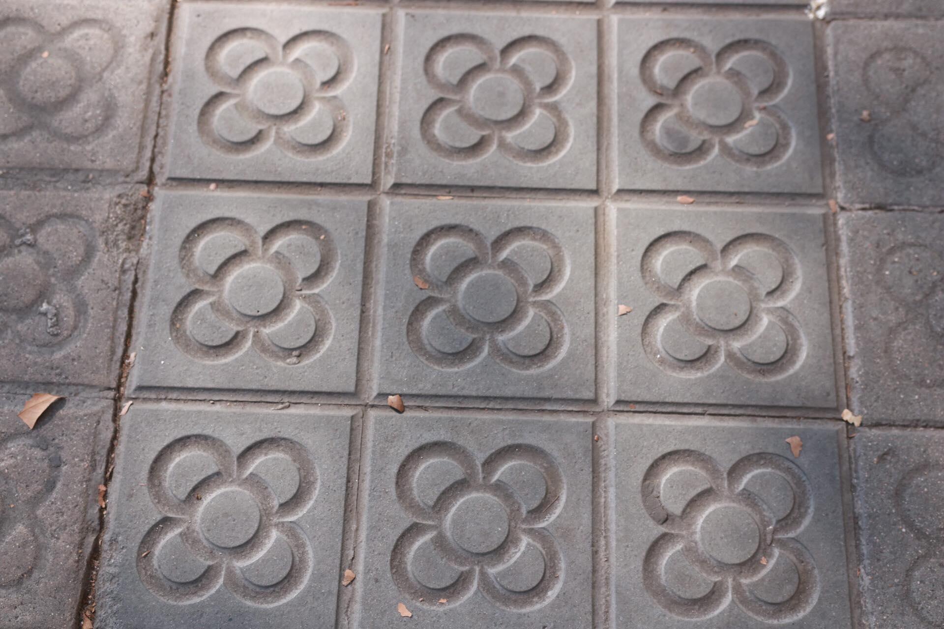 Sidewalk Tiles - The Barcelona Flower