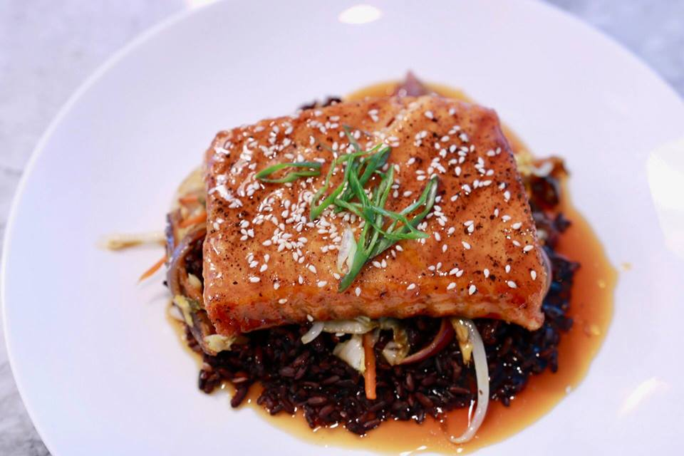 Salmon Teriyaki with Forbidden Rice