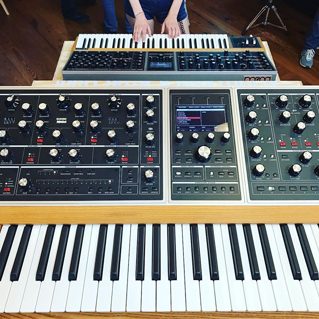 At Moogfest 2019, so much music inspiration! New MOOG ONE is a monster 🧟‍♂️! Hands on with it is crazy!
