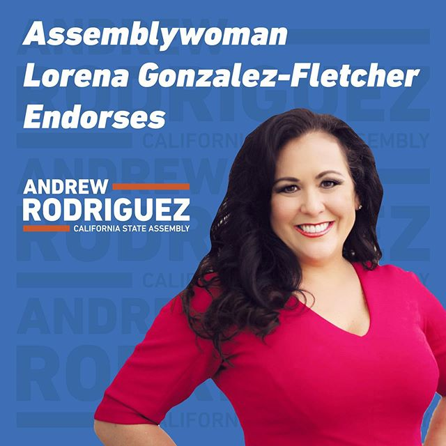 I am happy to announce that I have receive the endorsement and trust of our Latino Caucus Chair Assemblymember @lorenasgonzalez! For years, she has been a pioneer in the Latino community and I am proud to have earned her support. #Latinos #AD55 #AndrewForAssembly