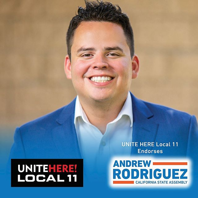 I'd like to thank UNITE HERE Local 11 for their endorsement, supporting workers is vital for a strong and fair economy and for the quality of life in our state.