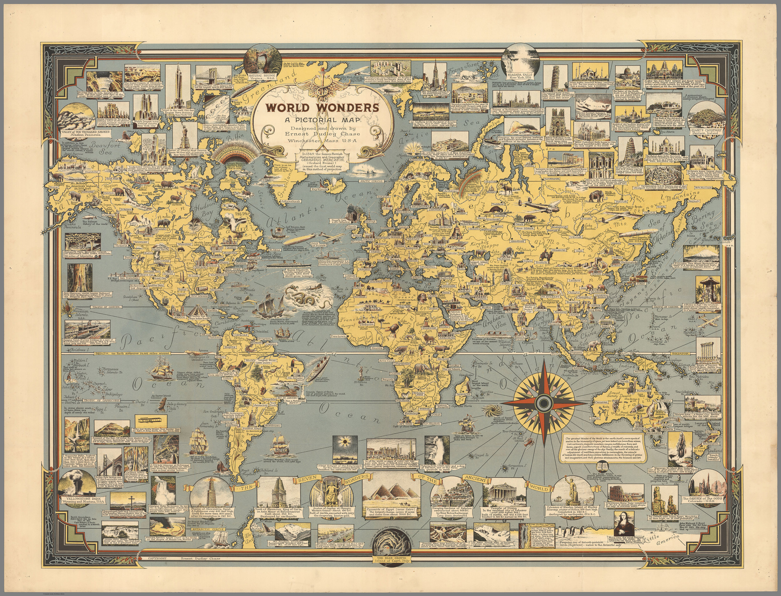 Designed and Drawn With Infinite Care: the Pictorial Maps of Ernest Dudley Chase - There's really nothing as visually satisfying as a pictorial map. Each densely packed, illustrated map is a visual feast for the eyes…