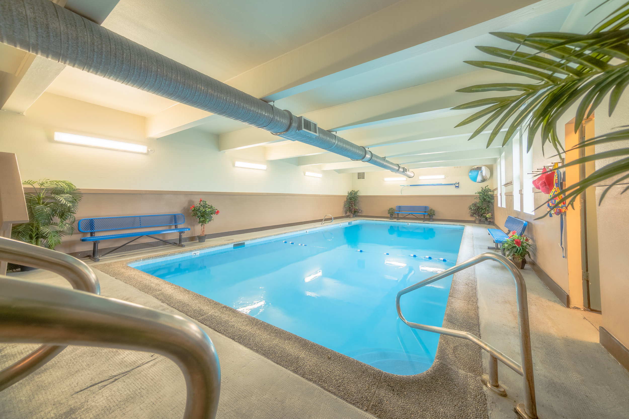 Indoor swimming pool and hot tub - Enjoy swimming and relaxing in the only indoor pool in Westport!