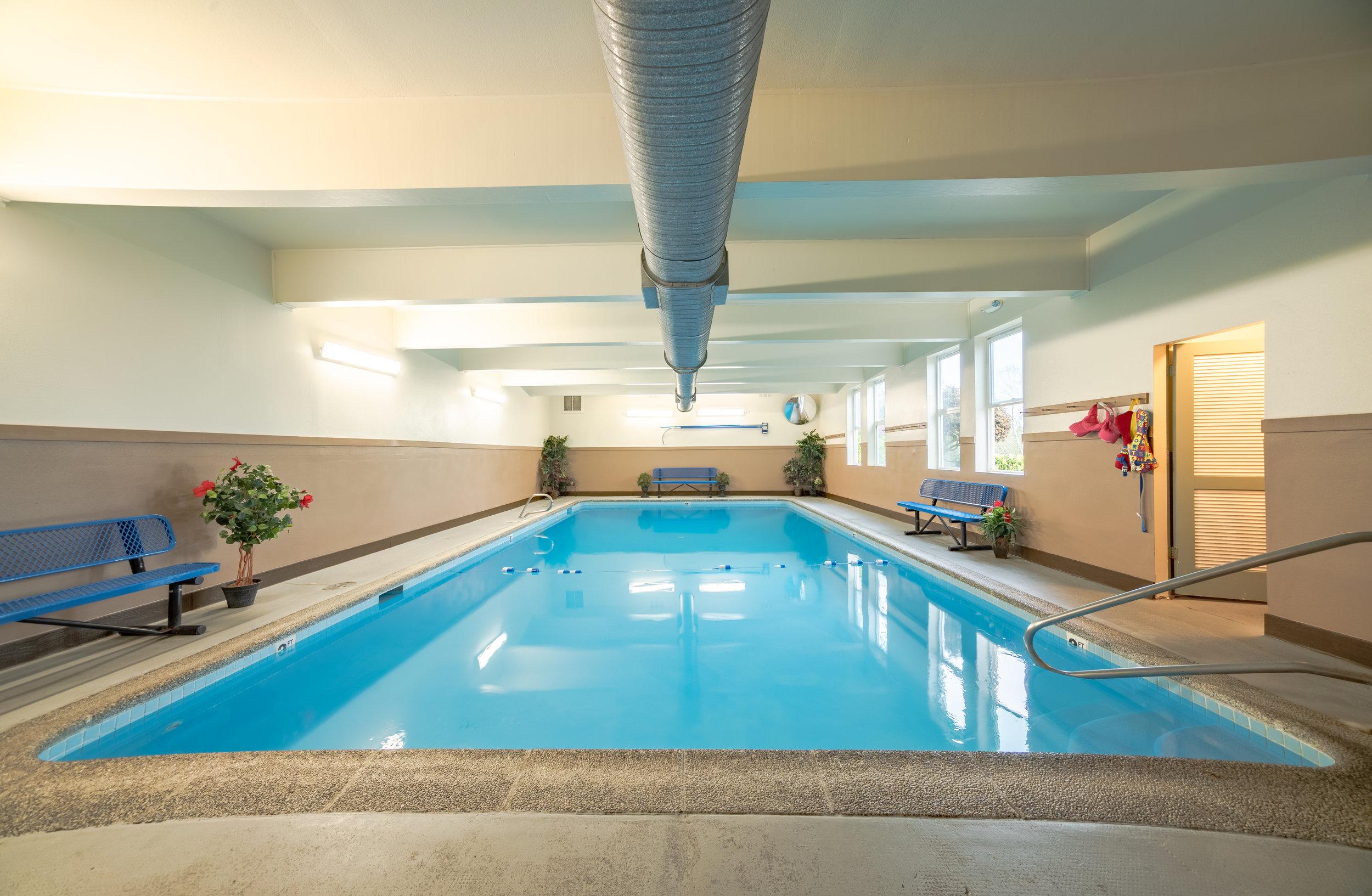 Indoor swimming pool & hot tub