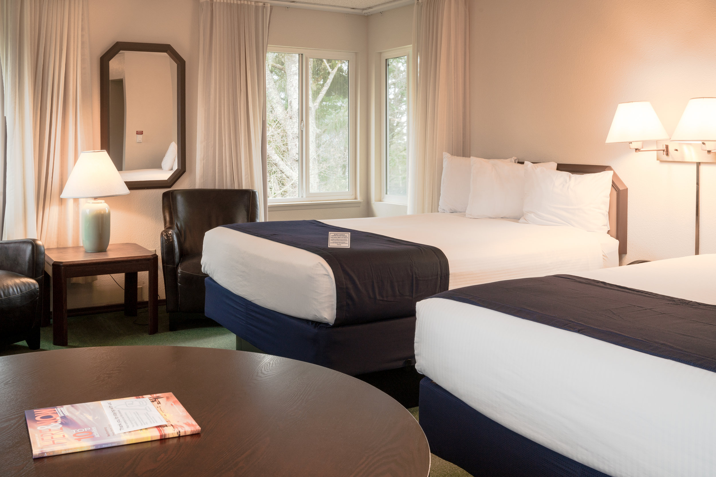 Standard Rooms - This standard room features a king pillow top bed. All rooms include a microwave, mini fridge, and a Keurig coffee maker.