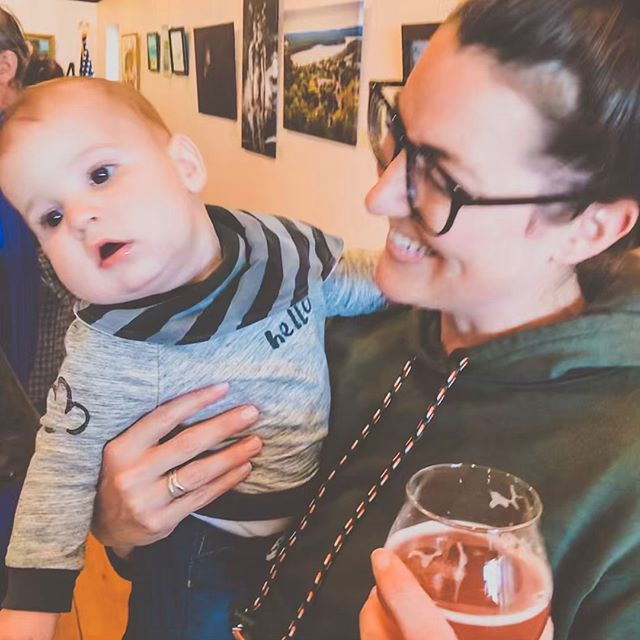 All I wanted on my birthday was a cute pic with Nile. He wasn't feeling it. 🤦🏻♀️ At least we (I) got to drink good beer and support local artist yesterday. 👍 Here's to another year around the sun. 🌞  #momlife #babyboy #dontcare #nopicturesplease