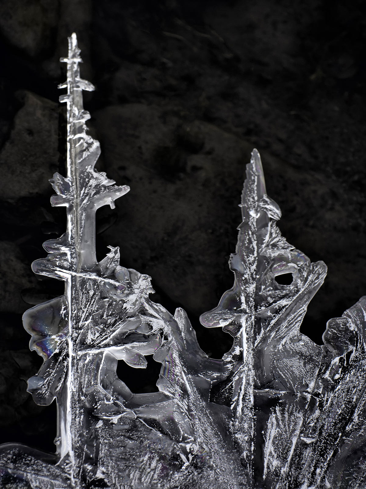 Ice formations are unique to that moment and place, and will not be the same even an hour later.