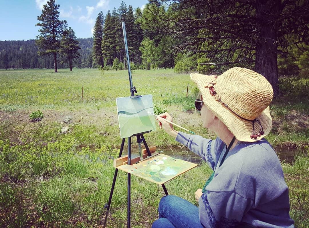 Sarah Burn's plein air painting workshop