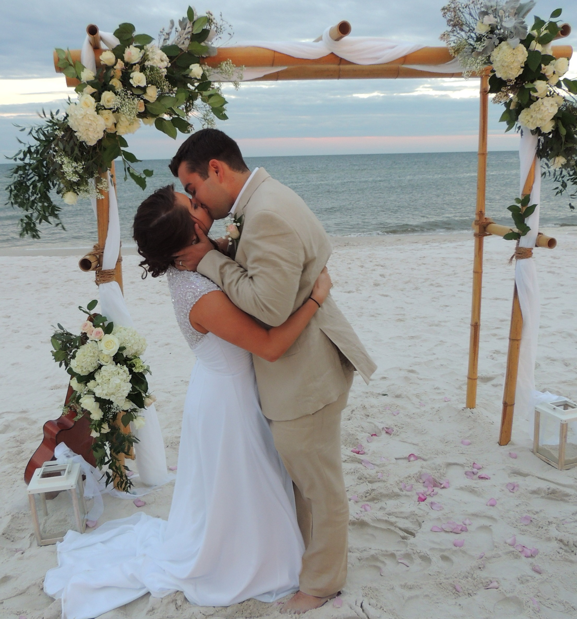 """Simple+ - Needing more than a simple elopement or beach ceremony? We have arch, photos, flowers, decor and other simple wedding needs.We often hear """"Short and Sweet"""" but that can change dramatically with each couple. Whatever your plans include, we can help!Click here for pricing info."""