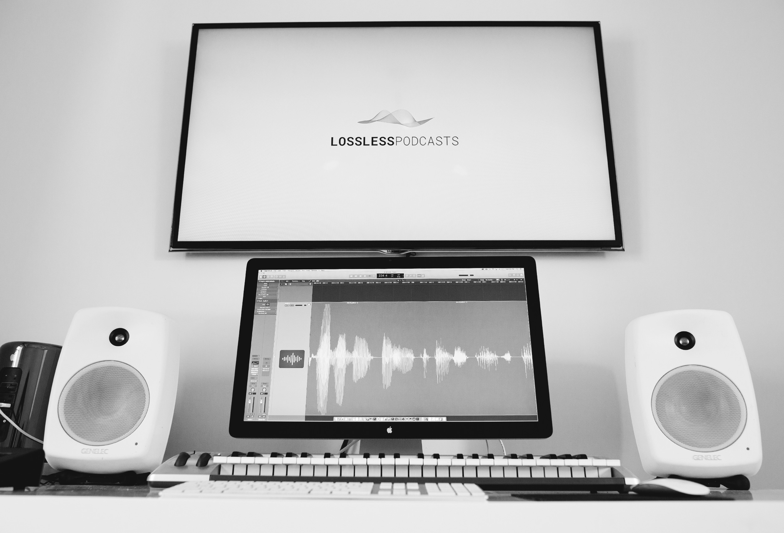 Original Music Production - A Lossless in-house composer makes an original theme and music for all of our shows. Having original music creates a unique tone, connects with specific emotions and delivers the highest level of production.Lossless won the 2018 Webby Award for best podcast original music and sound design.