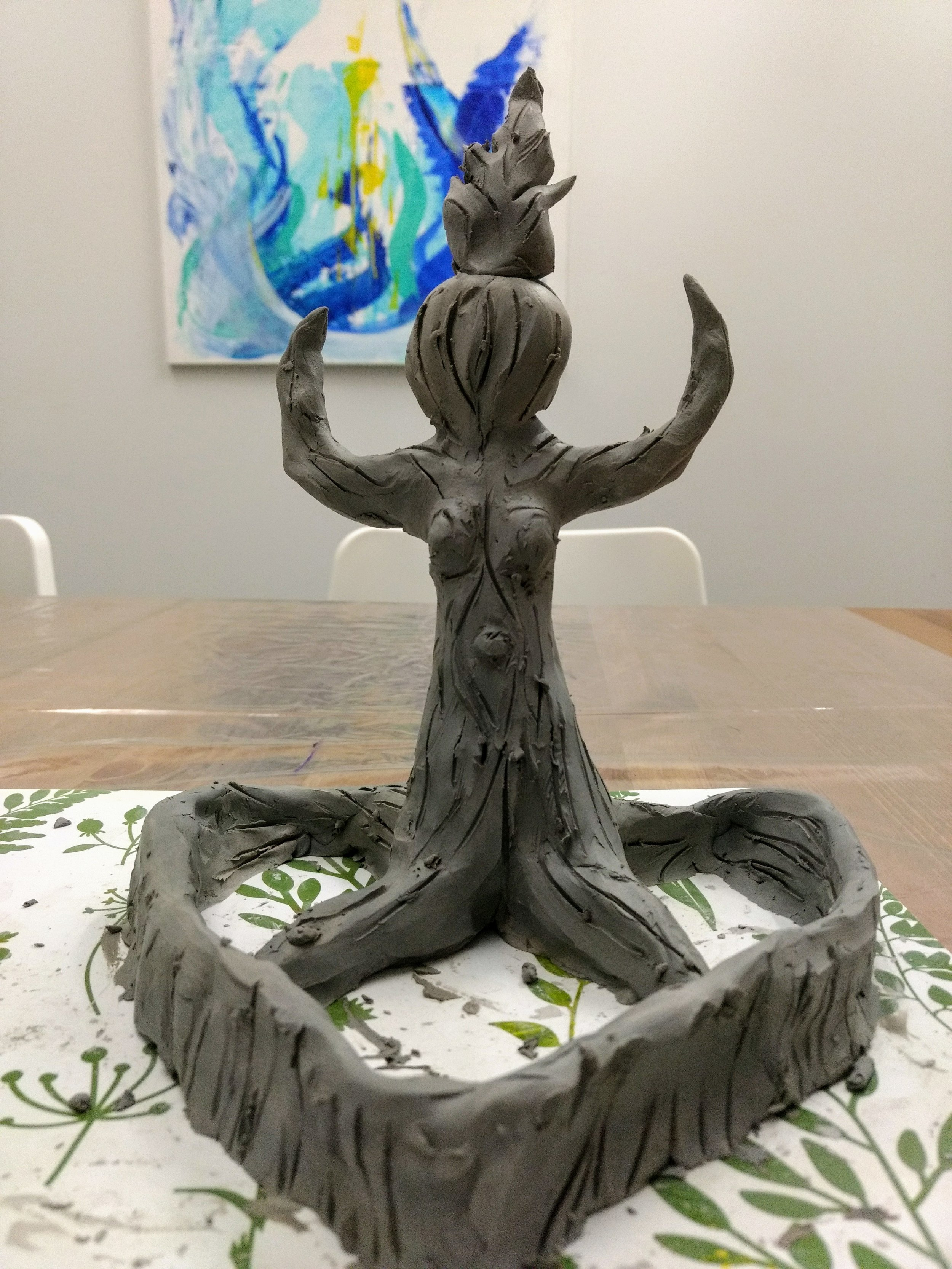 Sculpture created by Lacey Ford, Art Therapist & Co-Founder of Full Circle- Art Therapy Centre